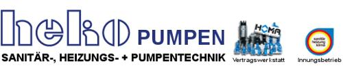heko Pumpen | Sanitär-, Heizungs- + Pumpentechnik